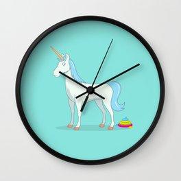 Unicorn Poop Wall Clock