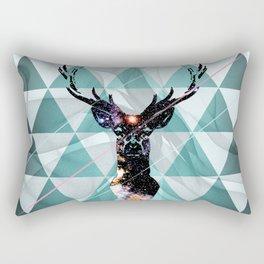 Majestic Space Deer Rectangular Pillow