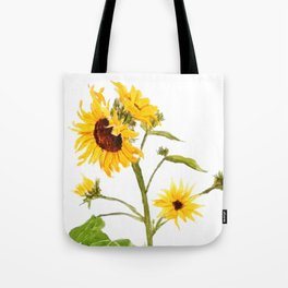 One sunflower watercolor arts Tote Bag