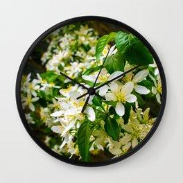 Starlight Crabapple Blooms Wall Clock