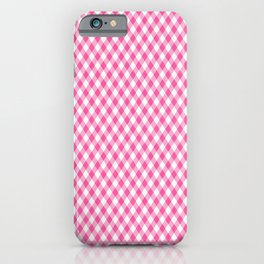 Pink Roses in Anzures 1 Gingham 1 iPhone Case
