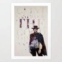 clint barton Art Prints featuring Clint by Brooks Hungate