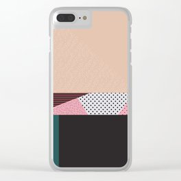 Mixture Abstract Pink Red Black Green Clear iPhone Case