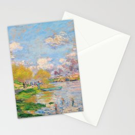 Claude Monet - Spring by the Seine - Digital Remastered Edition Stationery Cards