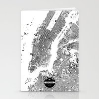 new york map Stationery Cards featuring New York Map by Maps Factory