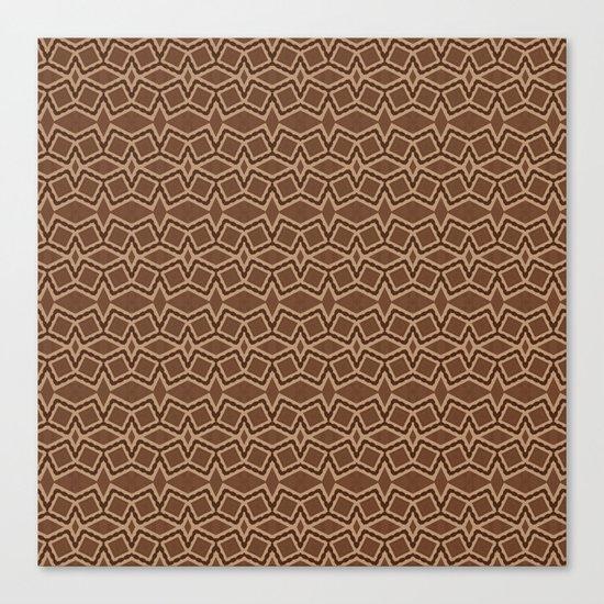 Brown Tilt-A-Block Canvas Print