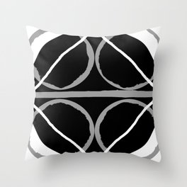 Geometric Unity Centered in a Circle Throw Pillow