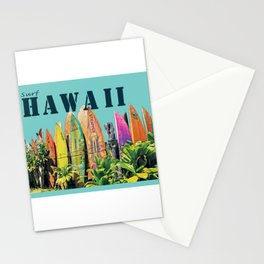 Hawaiian Surfboard Postcard Print Stationery Cards