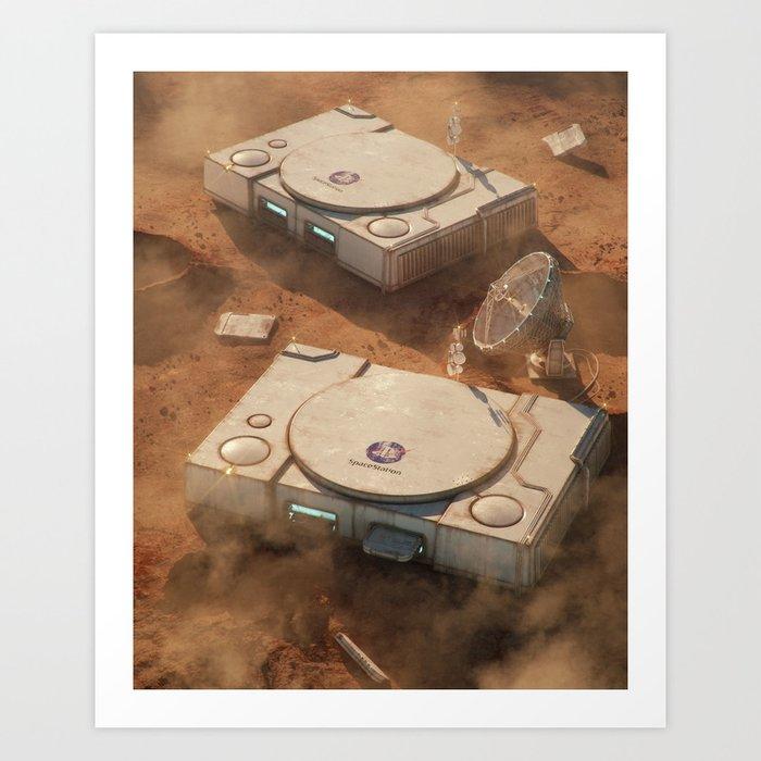SpaceStation 1 Art Print