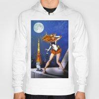 sailor venus Hoodies featuring Sailor Venus by Nelson Rodrigues