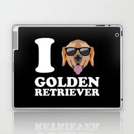 I Love Golden Retriever modern v2 Laptop & iPad Skin