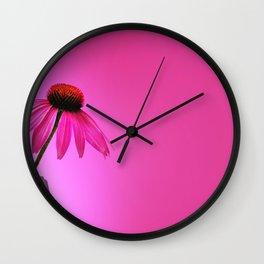 Ecinacea Pink Wall Clock