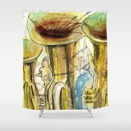 Tubas playing Shower Curtain