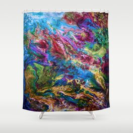 Calypso Abstract Painting by OLena Art Shower Curtain