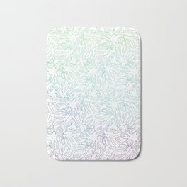 Ombre Monstera Leaves Bath Mat