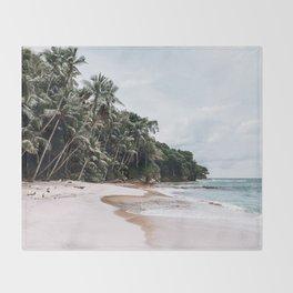 Tropical Island Throw Blanket