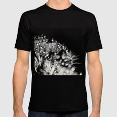 droplets MEDIUM Black Mens Fitted Tee