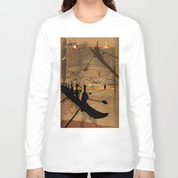 rowing Long Sleeve T-shirts featuring Rowing by Robin Curtiss