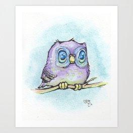 Lucy's Owl Art Print