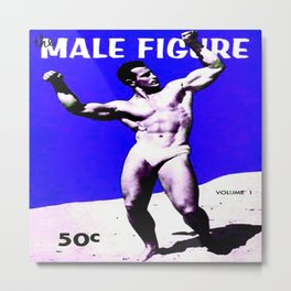 Male Figure 50 cents  Metal Print