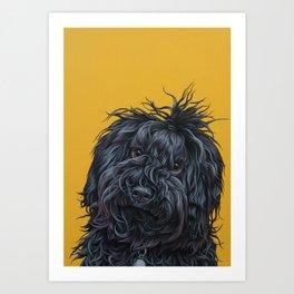 Sweet Puli Puppy Painting, Dreadlock Dog Art, Puli Dog Portrait Art Print