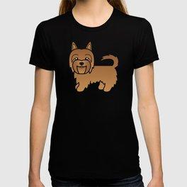 Red Australian Terrier Dog Cute Cartoon Illustration T-shirt