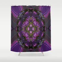 pie Shower Curtains featuring Lilac Pie by Cherie DeBevoise