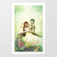 wedding Art Prints featuring Wedding by Achiru