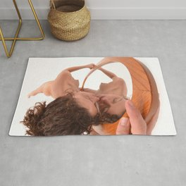 5399-KD In Love With Myself, Naked Reflection of Beauty Rug