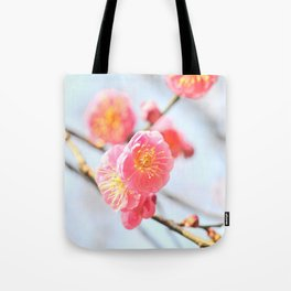 Delicate Pink & Yellow Flowers Tote Bag