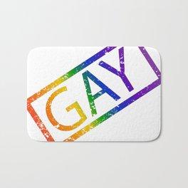 Gay Stamp Bath Mat