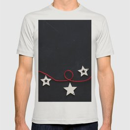 Stars on a Red Rope (Color) T-shirt