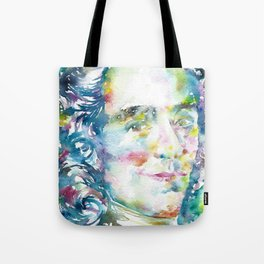 VOLTAIRE - waterrcolor portrait Tote Bag