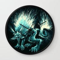 werewolf Wall Clocks featuring Werewolf. by Danilo Sanino