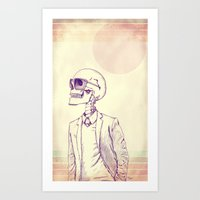 gentleman Art Prints featuring Gentleman by Mike Koubou