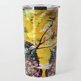 BIRDS IN LOVE (Yellow) Travel Mug