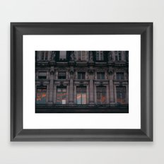 PARIS WINDOWS Framed Art Print