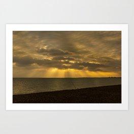 Sunbeams at Sunset  Art Print