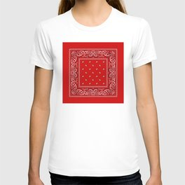 Paisley - Bandana - Red - Southwestern - Boho T-shirt