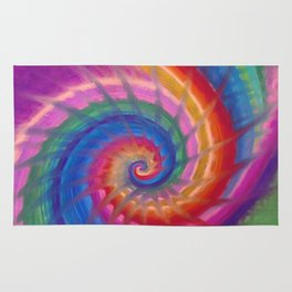 Spring into action with colour spirals Rug