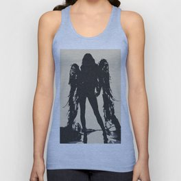 Angel of Death, hot erotic pop art illustration, sexy naked girl abstract stencil Unisex Tank Top