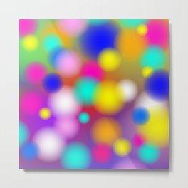 Dots Ball Circle Rainbow Pastel Abstract / GFTAbstract033 Metal Print