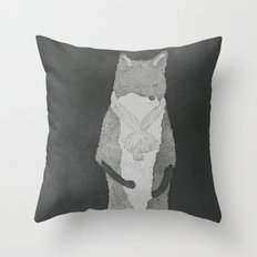 Fox Fur Throw Pillow