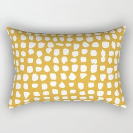 Dots / Mustard Rectangular Pillow