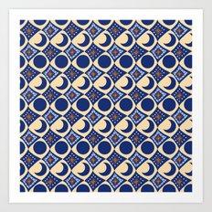 Blue Moon Diamonds Art Print