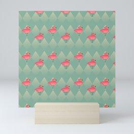 Sugar Flamingo Pattern Mini Art Print
