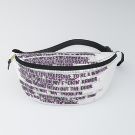 warrior text pat. Fanny Pack