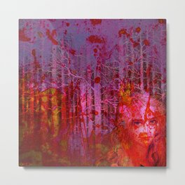 The clearing of the bloodthirsty witch Metal Print