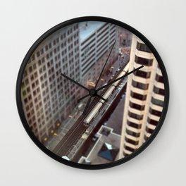 Chicago El Train Tracks Original Color Photo Wall Clock