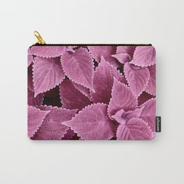 Leafy Pinks Carry-All Pouch